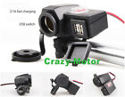 Handle Bar Mount Cell Phone Dual USB Charger Cigarette Ligher for Honda ATV Bike