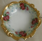 Antique Ornate Floral Bowl with Cross Swords Hallmark.