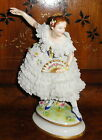 ANTIQUE VOLKSTEDT DRESDEN PORCELAIN BALLERINA DANCER WITH FAN 11