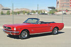 Ford  Mustang MUSCLE RARE RED 1964 1965 1966 1967 1968 1969 1970 NO RESERVE 1966 MUSTANG CONVERTIBLE 289 V8 DELUX INTERIOR A C POWER STERRING