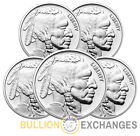 Lot of 5 - NTR Buffalo 1 oz Silver Rounds