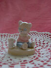VINTAGE SO CUTE  PORCELAIN LITTLE BABY BEAR W.PUPPY HANDPAINTED NUMBERED