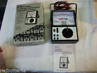 Vintage Sears 5205 portable Vom-Multimeter with battery tester with box