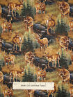 Stoney Brook Deer Fabric ~ 100% Cotton By Yard ~ Wilderness Deer Doe Buck Scenic