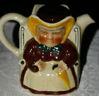 LARGE DARBY AND JOAN TOBY TONY WOOD TEA POT STAFFORDSHIRE ENGLAND W/CERT OF AUTH