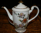 COLORFUL HAND PAINTED JAPANESE KUTANI TEA POT WITH LID MAJOR GOLD TRIM NO WEAR