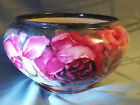 Beautiful rare antique Bavarian vase pot with pink roses 5 1/2