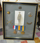 WW1 Medals And Hampshire Regiment Badges
