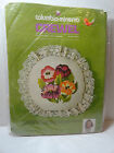 Retired Crewel Pillow Kit TULIP PILLOW Lace Edging 1974 Columbia-Minerva Wilson