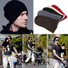 HOT BEANIE HAT SKULL KNITTED RIBBED WARM WINTER SLOUCHY UK STOCK