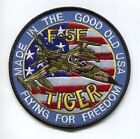 NORTHROP F-5 F-5E TIGER USAF TFS FS FOREIGN FIGHTER SQUADRON PATCH