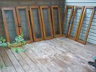 8 QUARTERSAWN OAK DISPLAY CASE CABINET DOORS  WITH GLASS
