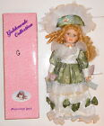 Goldenvale Collection Porcelain Victorian Doll - Claire - on Doll Stand NEW