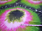 Bright color, large print Tie-Dye Print- Home decor fabric- 1 yard