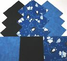Quilting Soft Snuggle Flannel Squares 48 pk 5 Sq Blue Black Pequin Quilt