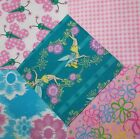 Quilting Soft Snuggle Flannel Squares 40 pk 5 Sq Flutter Tinkerbell Pink Quilt