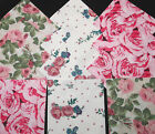 Quilting Soft Snuggle Flannel Squares 24 pk 5 Sq Pink Roses Rose Quilt