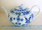 Vintage Meissen Blue Onion (blue on white) large teapot. Price further reduced!