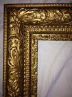 Large Antique GILT GESSO FRAME- Vintage Fancy Ornate Gold Frame -NICE!