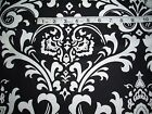 Large print Black and White Damask fabric-home decor - 1 yard