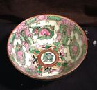 Vintage Asian Handpainted Rice Bowl Floral Scenes Great Condition From Macau