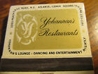 Atlanta Yohannan's  Restaurant Vintage Front Strike Matchbook Lot# 502