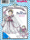 DISNEY PRINCESS DAISY KINGDOM GIRL & DOLL DRESSES SIMPLICITY 5542 PATTERN OOP