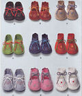 SEWING PATTERN Vintage 1948 Style Embroidered Felt Baby Shoe Booties Fit 4