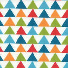 Moda Studio M Mixed Bag Triangles Tee Pee Fabric in Jamboree 32863-11
