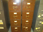Lot of 2 vintage Shall Walker Four Drawers Filing Metal Cabinet