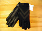 Womens Isotoner Stretch Shorty UNLINED Driving Gloves Leather Grips OSFM XL
