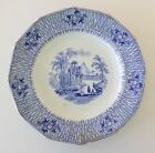 Antique 1850 CORINTH Pattern James Edwards Blue Transfer Ware Transferware Plate