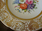 ARTIST SIGNED HAND PAINTED COPELAND SPODE FLORAL LAVISH GOLD CABINET PLATE! MINT