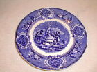 Antique 19c flow blue plate england dancers crown mark VG 9 1/4