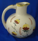 Hana Painted majolica ceramic pitcher vintage floral