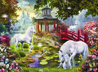 Unicorn Summer House 500+ piece Jigsaw Puzzle SunsOut Made USA Jan Patrik Krasny