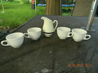 Vintage Homer Laughlin China Set-H.L.C. USA-White Cups & Pitcher-FREE SHIPPING