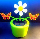1 New Solar-Power Dancing Toy Daisies Flowers With Bugs