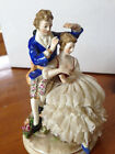 ANTIQUE VOLKSTEDT GERMAN PORCELAIN DRESDEN LACE COUPLE
