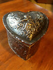 Antique Sterling Silver CUPID  Heart Shaped Trinket Box - 199 Grams