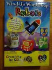 NEW Creativity for Kids Wind Up Workshop Robots Building Toy #1164