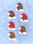 Quickutz Santa Hats with Holly Leaves Die Cut Embellishment Sizzix