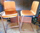 2 Vintage Industrial Machine Age Mid Century  Factory Bentwood Chair Bar Stool