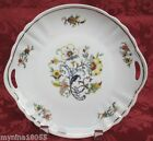 PK Unity Germany 2 Handled Platter Floral Pattern w/Gold Trim
