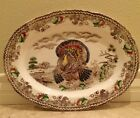 ANTIQUE TURKEY THANKSGIVING PLATTER 20x14