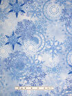 Christmas Winter Snowflake Fabric 100% Cotton By Yard Timeless Treasures C2207