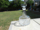 Beautiful Swedish Heavy Thick Crystal Decanter w/Stopper - Excellent