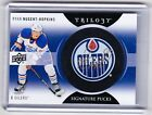 13-14 2013-14 UD TRILOGY RYAN NUGENT-HOPKINS SIGNATURE PUCK AUTO SP-NH OILERS