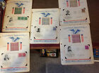 FAMOUS AMERICANS 4 Stamp Block & 1st Day Issue 1940 Authors Photo 5 Display Page