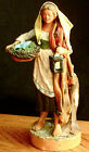 Polychrome Terracotta Peasant Woman figurine Italy Italian Antique Vintage